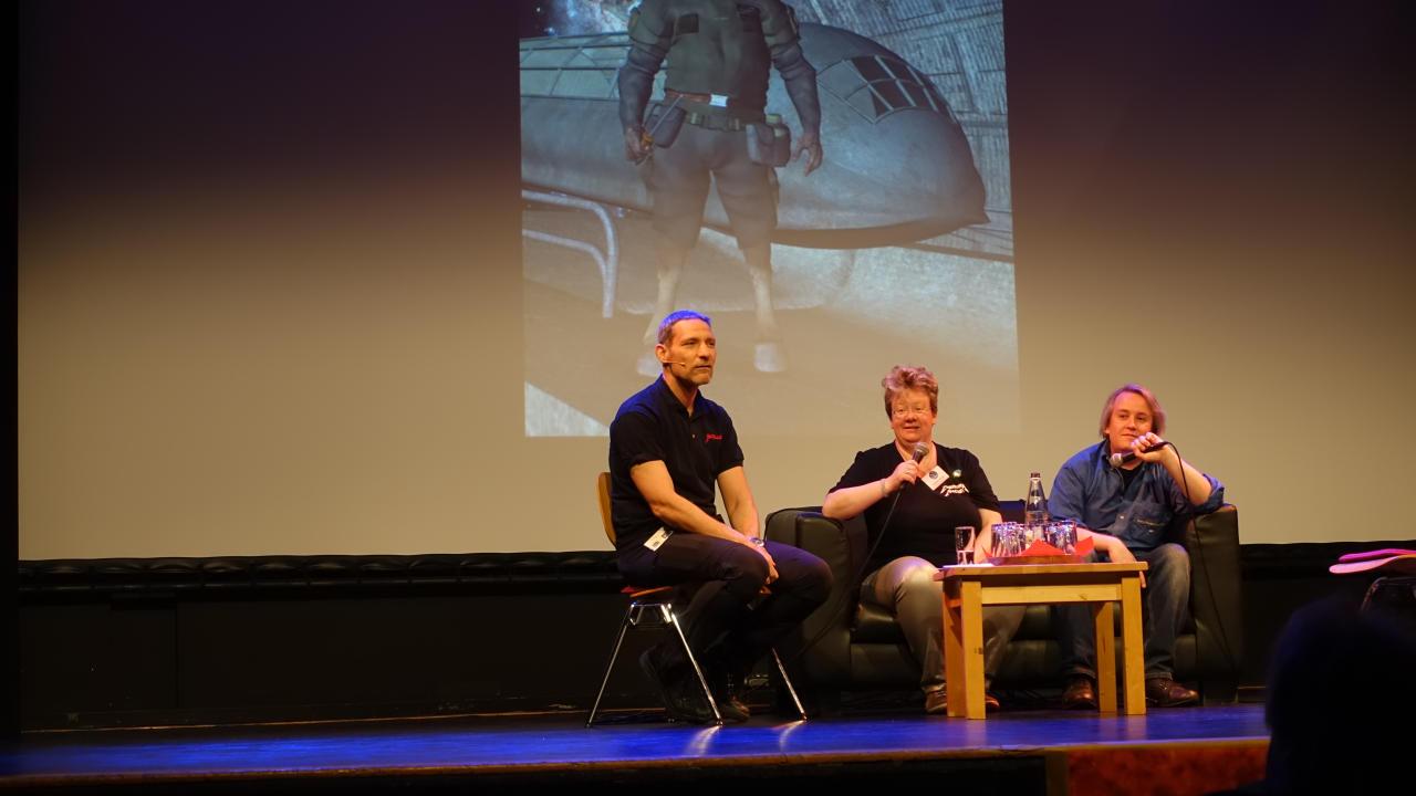 Roman Schleifer, Christina Hacker und Nils Hirseland (v.l.)