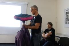 Dieter Bohn mit Jülziish-Kostüm