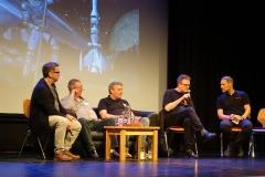 Mini-Serien-Panel. Olaf Brill, Uwe Anton, Dietmar Schmidt, Klaus N. Frick, Roman Schleifer (v.l.)