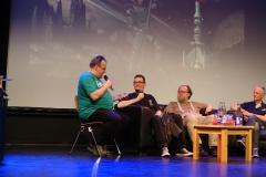 Late Night mit Rüdiger Schäfer, Klaus N. Frick, Arndt Ellmer und Andreas Brandhorst (v.l.)