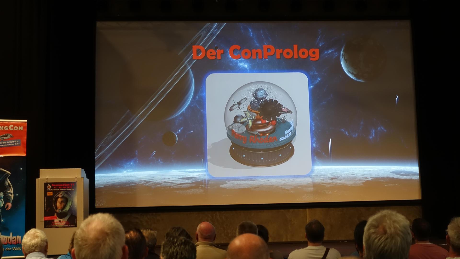 Animation von Thomas Röhrs. Schneekugel mit bekannten Raumschiffen.
